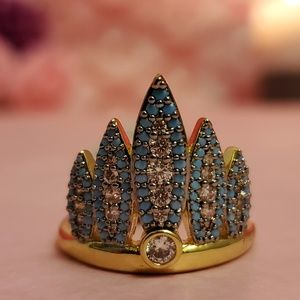 Henri Bendel Tribal Feather Ring
